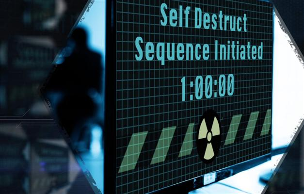 Screen showing self-destruct sequence activated