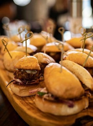 steak sliders available from our party venues menu