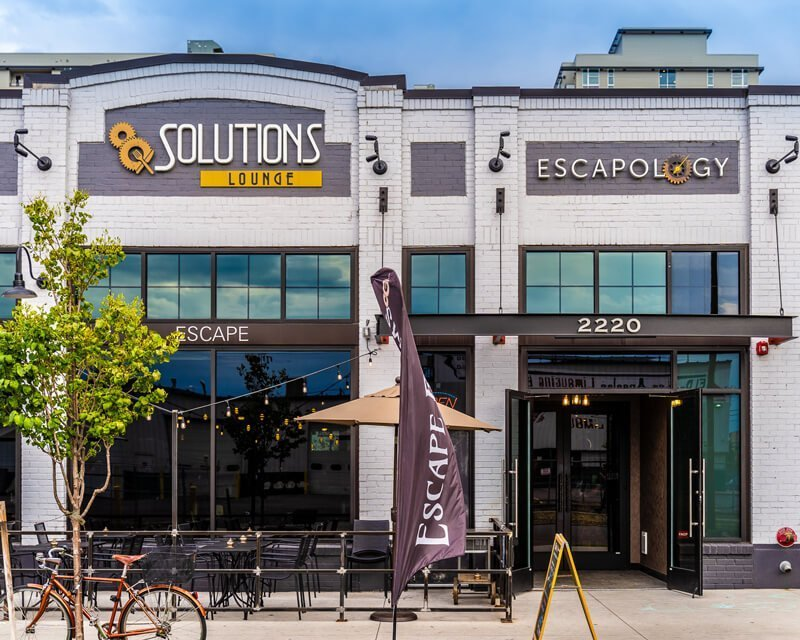 Front external view of Solutions Lounge and Restaurant