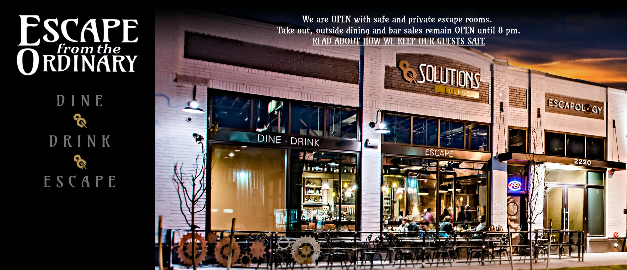 Solutions Lounge--unique among uptown Denver restaurants and bars